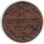 1 Pfennig - Dominik Konstantin -  reverse