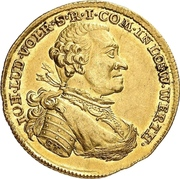 1 Ducat -  Johann Ludwig Vollrath – obverse