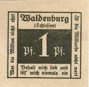 1 Pfennig (Waldenburg in Schlesien) – obverse