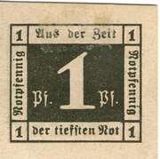 1 Pfennig (Waldenburg in Schlesien) – reverse