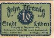 10 Pfennig (Lüben) – obverse