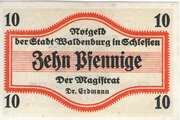 10 Pfennig (Waldenburg in Schlesien) – obverse