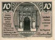 10 Pfennig (Lauban) – obverse
