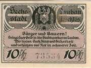 10 Pfennig (Lauban) – reverse