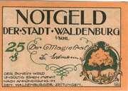 25 Pfennig (Waldenburg in Schlesien) – obverse