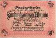25 Pfennig (Nimptsch) – obverse
