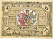 25 Pfennig (Canth) – obverse