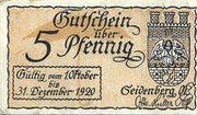 5 Pfennig (Seidenberg) – obverse