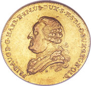 5 Thaler - Friedrich August – obverse