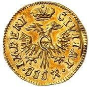1 Dreiling (Gold Pattern strike) – obverse