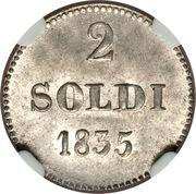 2 Soldi - Carlo Ludovico I – reverse