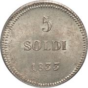 5 Soldi - Carlo Ludovico I – reverse