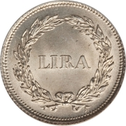 1 Lira - Carlo Ludovico I – reverse