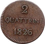 2 Quattrini - Carlo Ludovico I – reverse