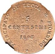 5 Centesimi - Felice – reverse
