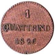 1 Quattrino - Carlo Ludovico I – obverse