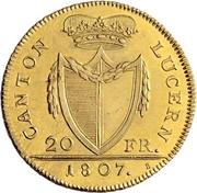 20 Franken – obverse