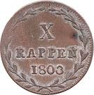 1 Batzen / 10 Rappen – reverse