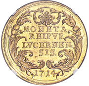 10 Ducat (Trade Coinage) – reverse
