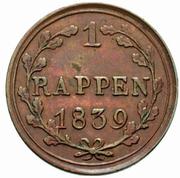 1 Rappen – reverse