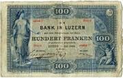 100 Francs (Bank in Luzern) -  obverse