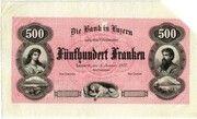 500 Francs (Bank in Luzern) – obverse