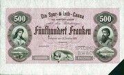 500 Francs (Die Spar- und Leih-Cassa des Kantons Luzern) – obverse