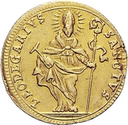 1 Ducat (Trade Coinage) – obverse