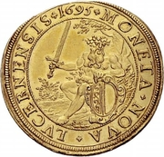 5 Ducat (Trade Coinage) – obverse