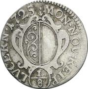 ⅛ Gulden – obverse