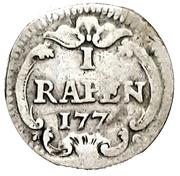 1 Rappen (Silver pattern) – reverse