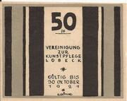 50 Pfennig (Lübeck; Vereinigung zur Kunstpflege) – obverse