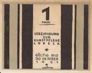 1 Mark (Lübeck; Vereinigung zur Kunstpflege) – obverse