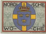 50 Pfennig (Lübeck; Nordische Woche) – reverse