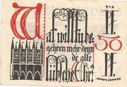½ Mark (Lübeck) – reverse