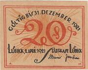 20 Pfennig (Lübeck) – obverse