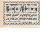 50 Pfennig (state issue) – reverse
