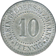 10 Pfennig - Lüneburg – reverse