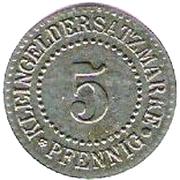 5 Pfennig - Lüneburg – reverse