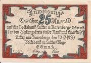 25 Pfennig (Volksbank) – obverse