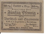50 Pfennig (Vorschuß- und Sparverein) – obverse