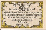 50 Pfennig (Volksbank) – obverse