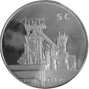 5 Euro - Henri I (Steel Production) -  reverse
