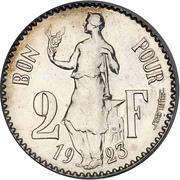 2 Francs - Charlotte (Essai - silver) – reverse