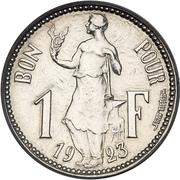 1 Franc - Charlotte  (Essai) – reverse