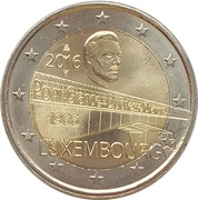 2 Euro - Henri I (50 Years of Grand Duchess Charlotte Bridge) -  obverse