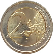 2 Euro - Henri I (50 Years of Grand Duchess Charlotte Bridge) -  reverse