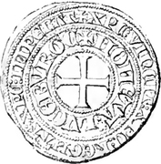 Tournois Gros - Charles IV – reverse