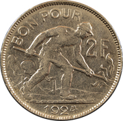 2 Francs - Charlotte -  reverse
