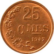 25 Centimes - Charlotte (Bronze) -  reverse